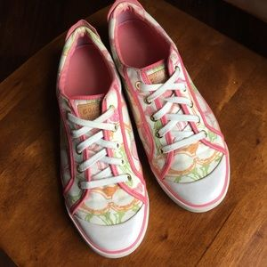 COACH Barrett Pink/Multicolored Sneakers